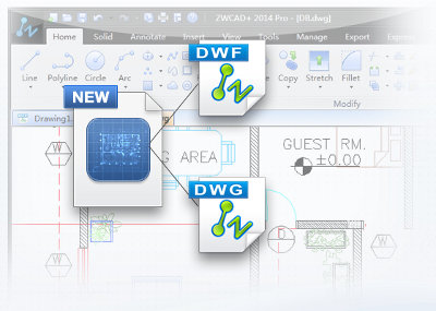 zwcad plus 2014 dwg support
