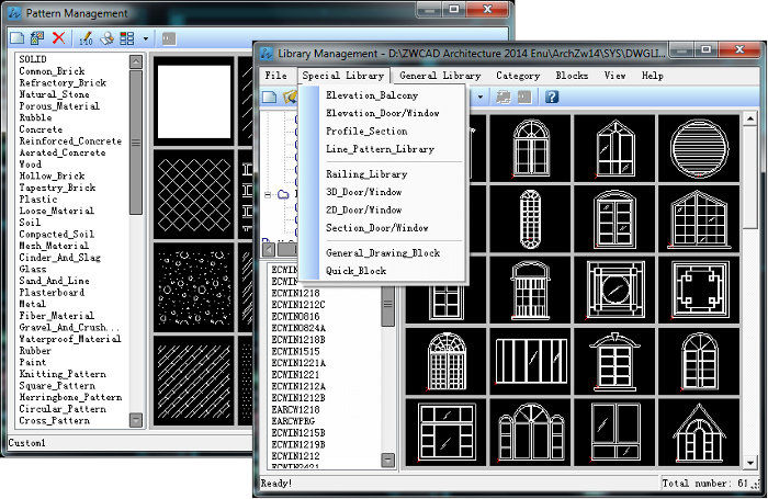 Comprehensive pattern library